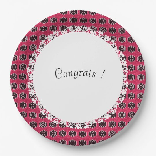 Celebration-Multi-Use-Template_Rose-Mod 9 Inch Paper Plate