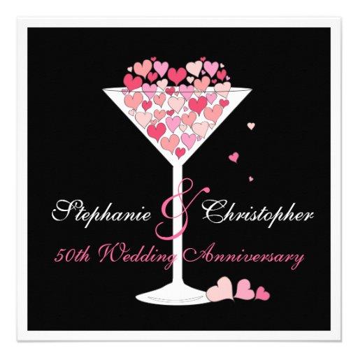 Celebration of Hearts Anniversary Party Invitation