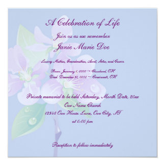 Celebration of Life 13 Cm X 13 Cm Square Invitation Card