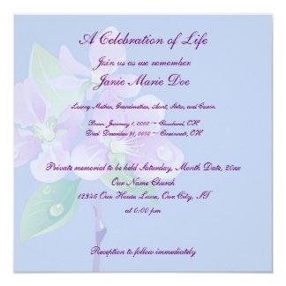 Celebration of Life 13 Cm X 13 Cm Square Invitation Card
