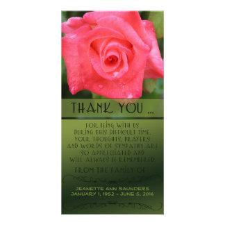 Celebration of Life, Coral Rose, You Customize Photo Card