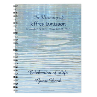 Celebration of Life Guest Book Abstract Reflection Spiral Notebook