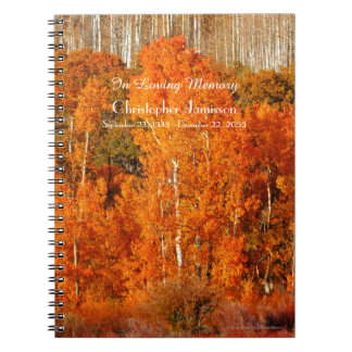 Celebration of Life Guest Book Autumn Fall Aspens