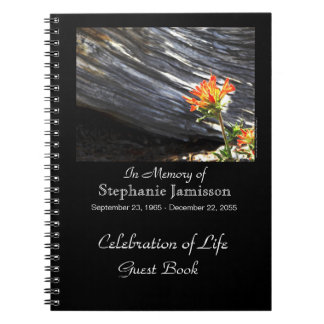Celebration of Life Guest Book, Indian Paintbrush Spiral Notebooks