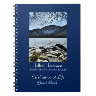 Celebration of Life Guest Book, Lake and Sky Spiral Note Book