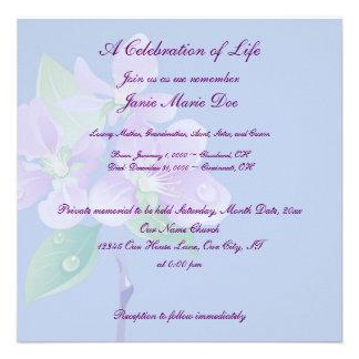 Celebration of Life Invitation