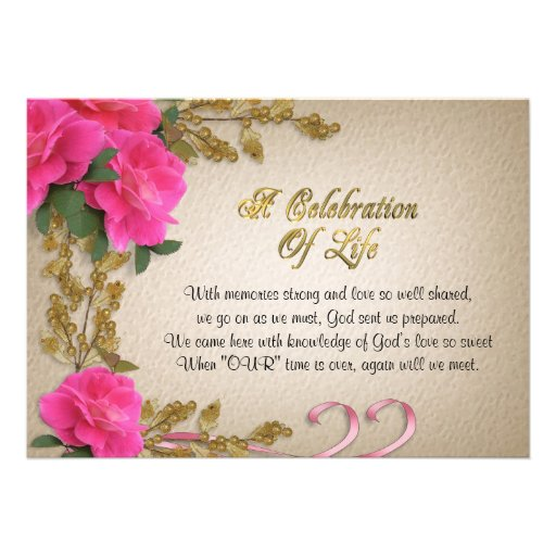 Celebration Of Life Announcement Wording Pictures to Pin ...