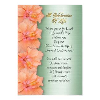 Celebration of life Invitation hibiscus