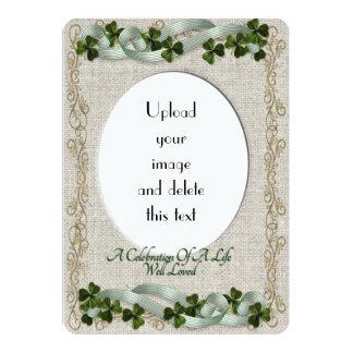 Celebration of life Invitation Irish theme