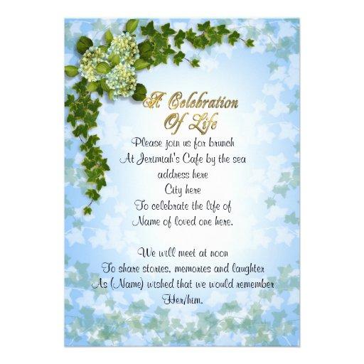 Funeral Invitation Wording as good invitation design