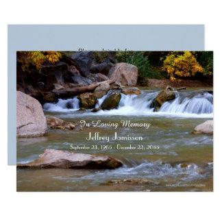 Celebration of Life Invitation Little Waterfall