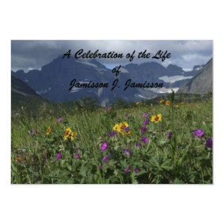 Celebration of Life Invitation Mountain Wildflower