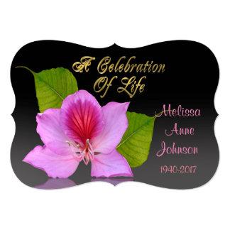 Celebration of life Invitation Orchid