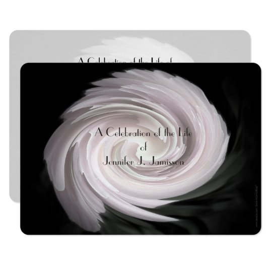 Celebration of Life Invitation Pale Pink Swirl