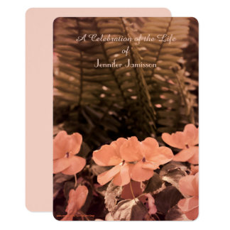 Celebration of Life Invitation, Pastel Flowers Card
