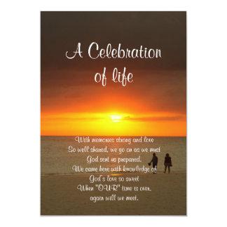Celebration of life Invitation sunset