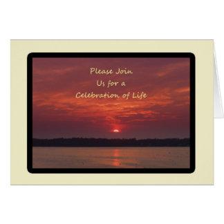Celebration of Life Invitations Note Card