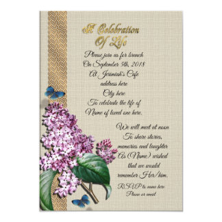 Celebration of life Lilacs Card