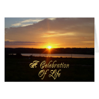 Celebration of life memorial invitation Sunrise Greeting Card