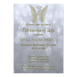 Celebration of Life - Silver & Gold 13 Cm X 18 Cm Invitation Card