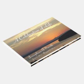 Celebration of Life Sunset Photo Memorial Guest Book