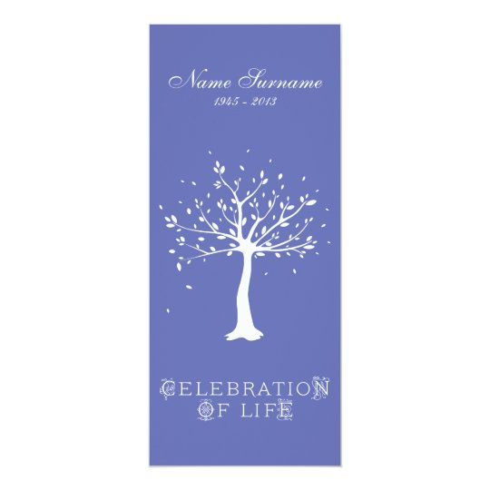 Celebration of Life with Photo | Elegant Tree Card