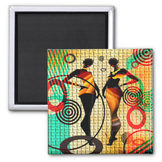 Celebration Of Style Square Magnet