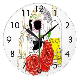 Celebration Of The Dead Sugar Skull Clock