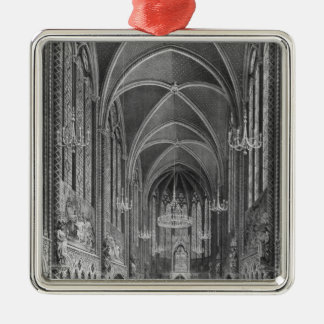 Celebration of the mass for the magistrature Silver-Colored square decoration