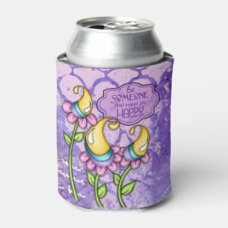 Celebration Positive Thought Doodle Flower Can Coo Can Cooler