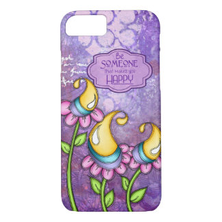 Celebration Positive Thought Doodle Flower iPhone iPhone 8/7 Case