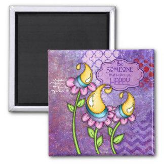 Celebration Positive Thought Doodle Flower Magnet