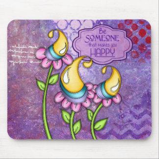Celebration Positive Thought Doodle Flower Mousepa Mouse Pad
