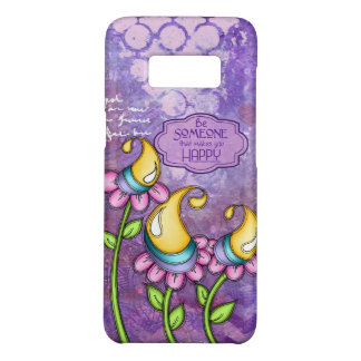 Celebration Positive Thought Doodle Flower Samsung Case-Mate Samsung Galaxy S8 Case