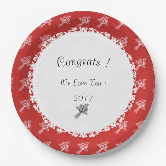 Celebration-Template_Red-White-Roses 9 Inch Paper Plate