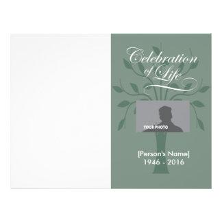 Celebration Tree of Life Memorial Program Flyer