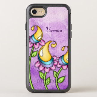 Celebration Watercolor Doodle Flower iPhone Otter
