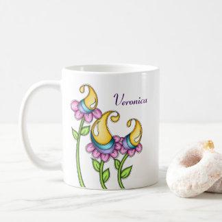 Celebration Watercolor Doodle Flower Mug