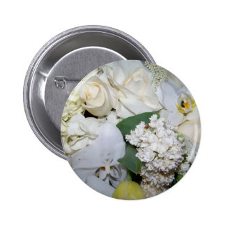 Celebration White Roses Orchies_ Button