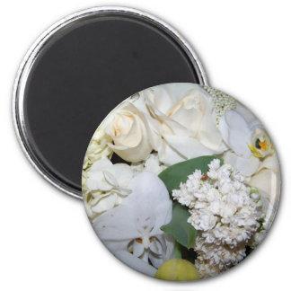 Celebration,White Roses & Orchies_ Fridge Magnet