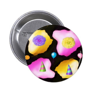 Celebrations: Floral Colorful Icebergs Buttons