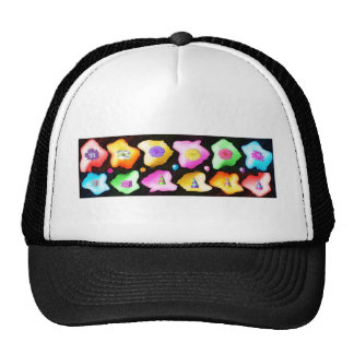 Celebrations: Floral Colorful Icebergs Mesh Hats