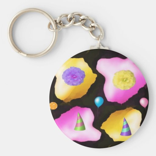 Celebrations: Floral Colorful Icebergs Key Chains