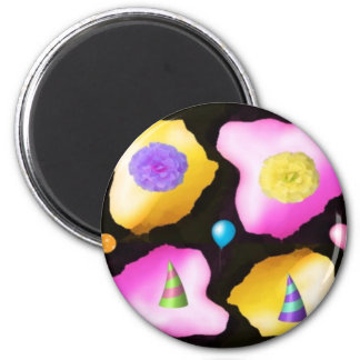 Celebrations: Floral Colorful Icebergs Magnet