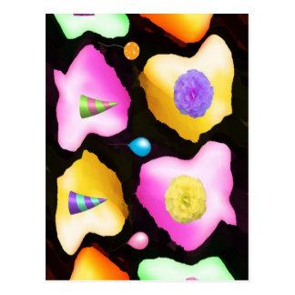 Celebrations: Floral Colorful Icebergs Postcard