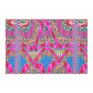 Celebrations Jewels Ribbons Graphic Spectrum Gift Gallery Wrapped Canvas