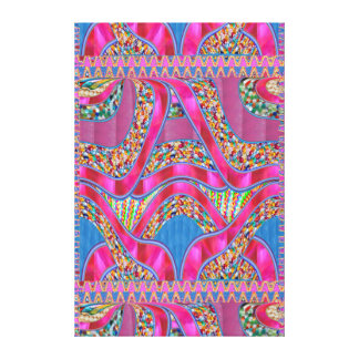 Celebrations Jewels Ribbons Graphic Spectrum Gift Canvas Print