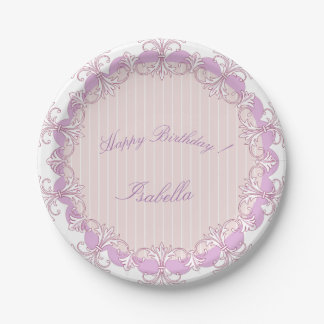 Celebrations_Monogram_Pink-Paradox_Classic's_Multi Paper Plate