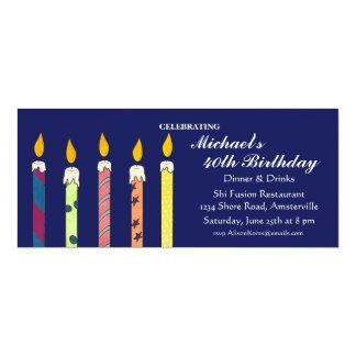 Celebratory Candles Invitation