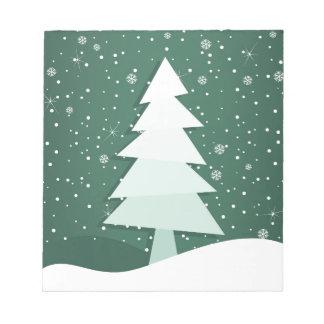 Celebratory tree notepad